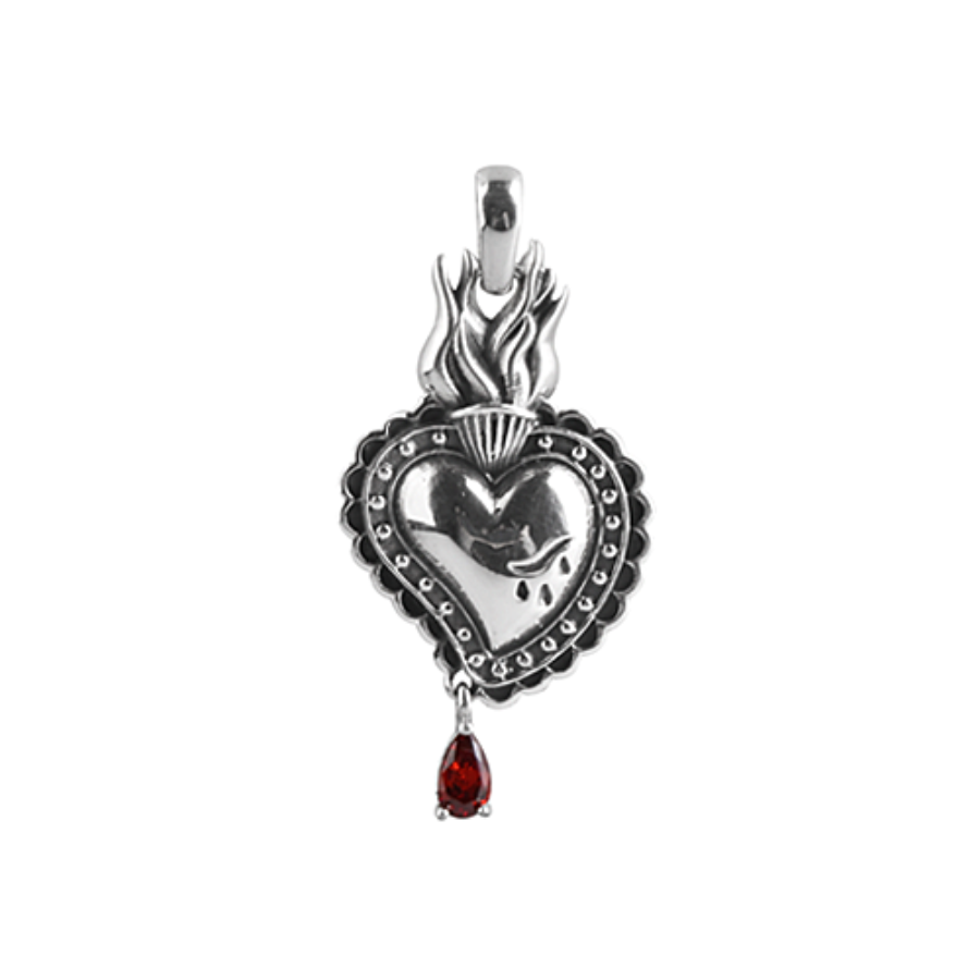 [MAXXIXI] Sacred heart red blood pendant