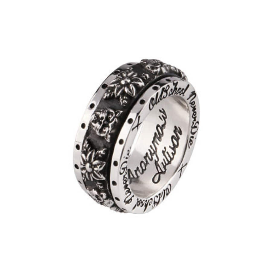 Oldschool Spinner Ring - Panther Flower