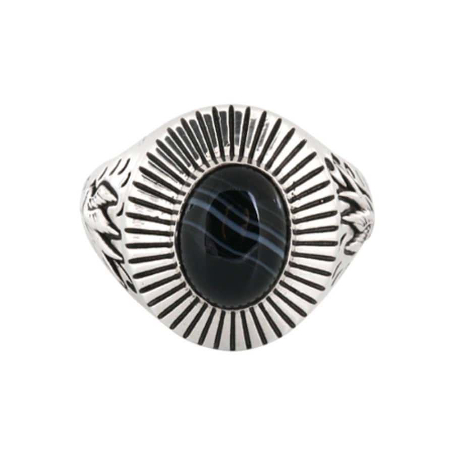 Swallow Egg ring - Black