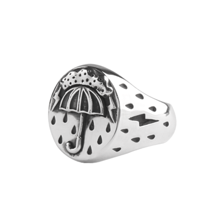 umbrella ring - silver