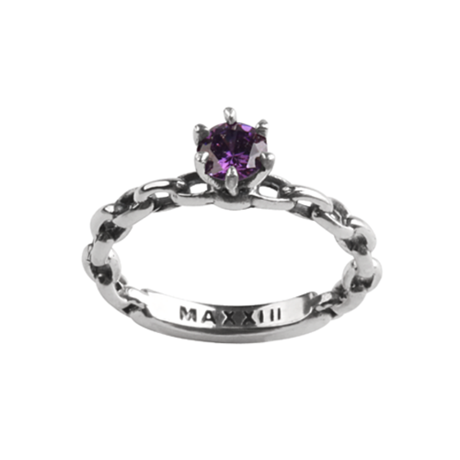 [MAXXIXI] Chain wedding ring - violet