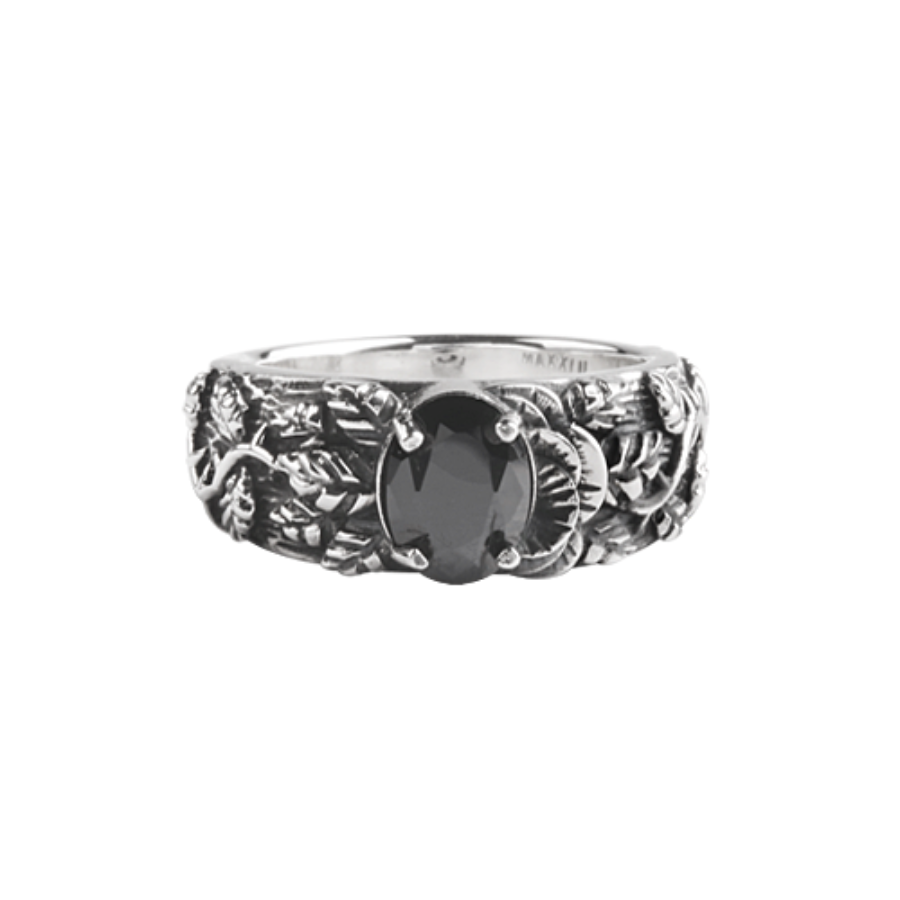 [MAXXIXI] Half rose ring - black